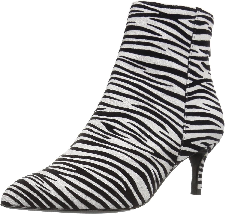 Just Cavalli Women's Flocked Zebra D'Orsay Pump Ankle Bootie