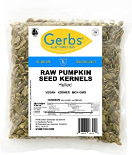 Raw Pumpkin Seed Kernels, 4 LBS by Gerbs – Top 14 Food Allergy Free & NON GMO - Vegan, Keto Safe & Kosher - Premium Quality