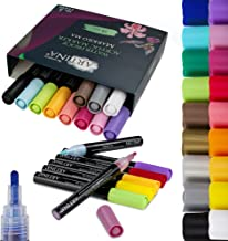Artina Markilo MA pisaki akrylowe, zestaw 18 sztuk, farby akrylowe, do kamieni, papieru, płótna, szkła, ceramiki, tworzywa...