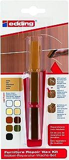 edding 8901 Möbel-Reparatur-Wachs-Set - 3 mischbare Farben - eiche - Zum Entfernen von Kratzern und Schrammen auf Möbeln und Holz