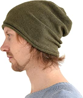 CHARM Mens Slouchy Beanie Winter - Womens Wool Knit Hat Warm Baggy Japanese  Cap 79d48f6f8204