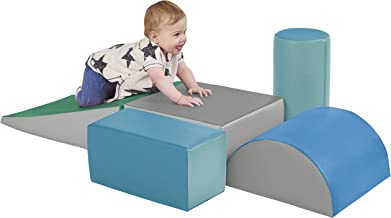 ECR4Kids SoftZone Climb and Crawl Activity Play Set, Lightweight Foam Shapes for..