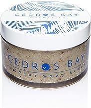 Cedros Bay Coconut Body Scrub 6.2oz - Vegan, Natural, Caribbean Made with 100% Organic Coconut Oil for Sensitive Skin