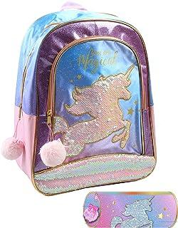 Juego Backpack + Pencilcase Unicorn Mochila Infantil, 40 cm, Pink