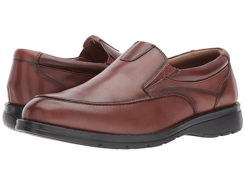 Dockers Calamar Moc Toe Loafer (Dark Tan Polished Full Grain) Men
