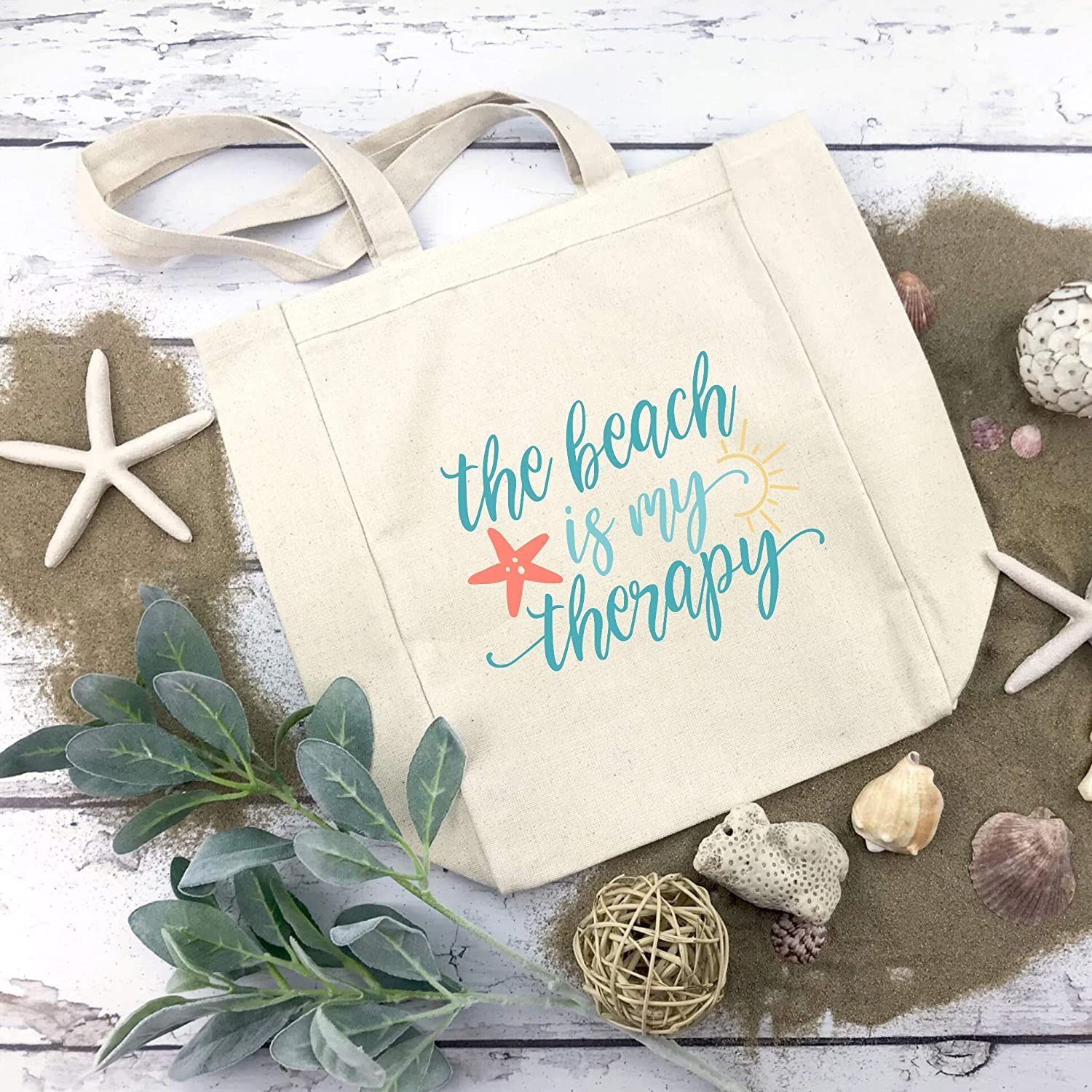 The Beach is my Tote Therapy Ranking TOP10 Large Bag shipfree
