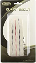 Prestige Medical 621-wht Cotton Gait Belt with Metal Buckle White