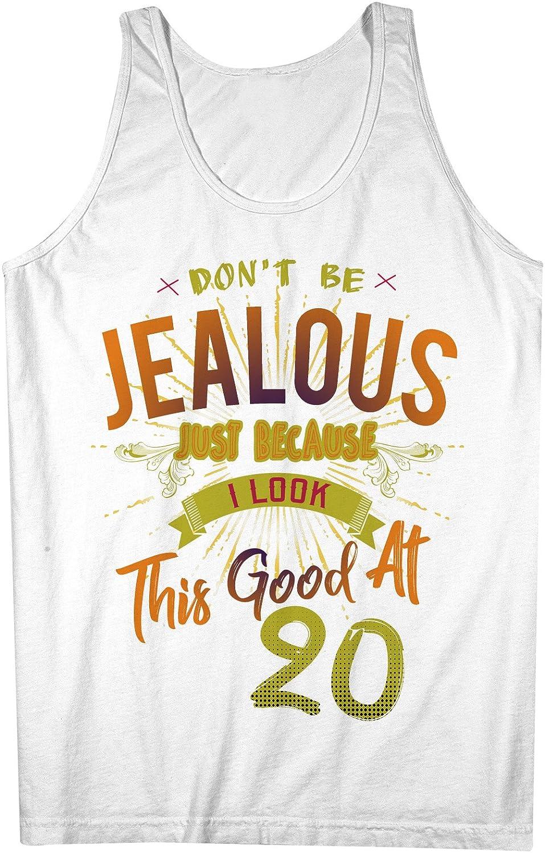 Don't Be Jealous I Look This Good At 20 お誕生日 Anniversary 男性用 Tank Top Sleeveless Shirt