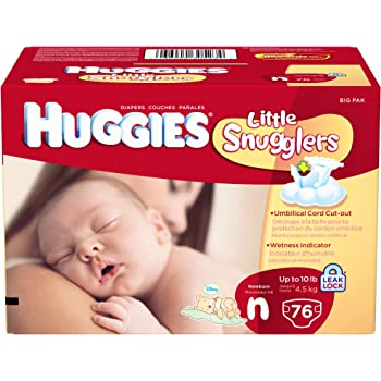 Huggies Little Snugglers Diapers for Newborn, Big Pack, 76 Count