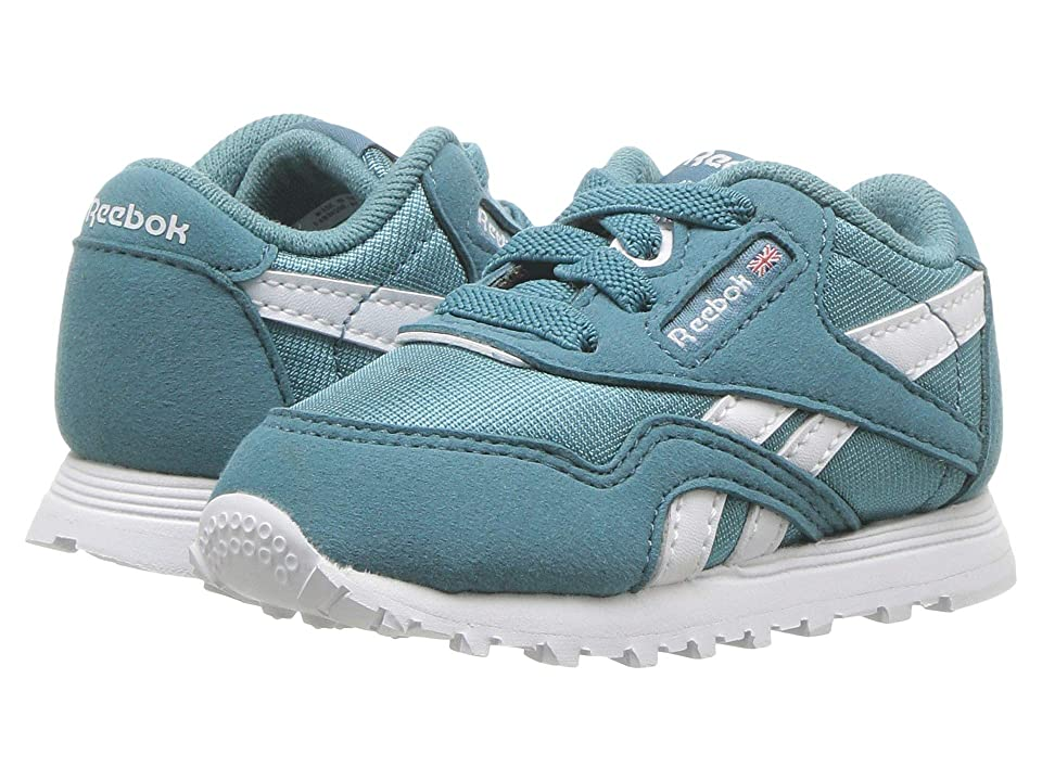 Reebok Kids Classic Nylon MU (Infant/Toddler) (Mineral Mist/White) Kids Shoes