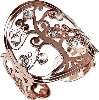 Fabriqu/ée en Italie Bijoux pour Fille R/égables Originaux dans Un Magnifique Coffret Cadeau PRINCIPIO/® Bague pour Femme avec Arbre de la Vie en Argent Sterling 925