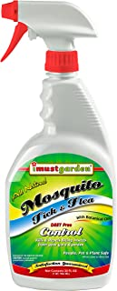 I Must Garden Mosquito Tick and Flea Control: Kills and Repels Biting Insects from Garden, Deck, Campsite – Natural and Pet Safe – 32oz Ready-to-Use Easy Spray Bottle