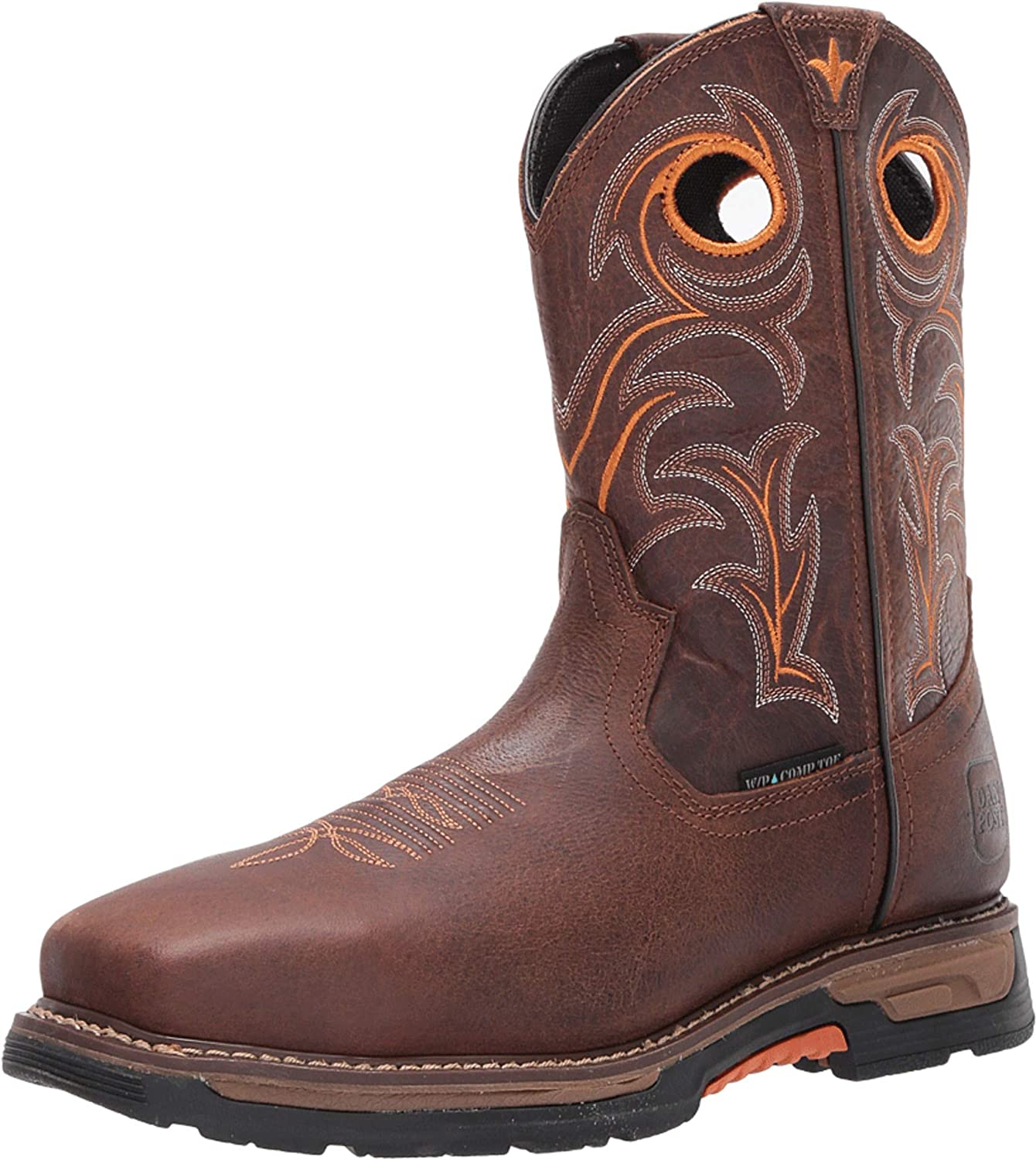 Dan Post Boots Mens Storms Eye Waterproof Eh Composite Toe Work Work Safety Shoes Casual - Brown - Size 11 D