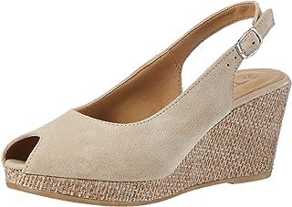 klassische Mode Schuhe 65540 40 Rieker Damen Plateau Keil
