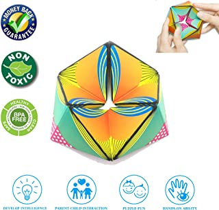 Fidget Toys, Fidget toys for Adults and Kids Magic Cube Puzzle Relieves Stress and Anxiety Anti Depression Fidget Cube for Kids and Adults with ADHD ADD OCD Autism Hexgon Kaleidocycle puzzle Toys