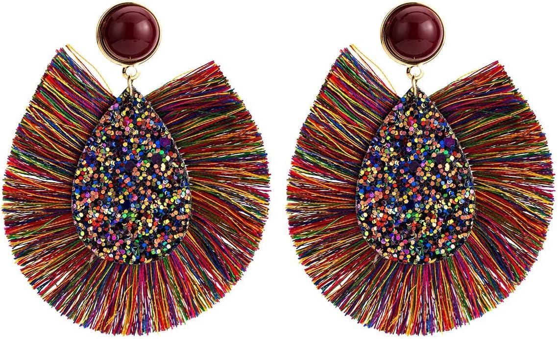 JYMBK Earrings Max Bargain sale 84% OFF Europe and Teardrop-Shaped America Earring Tassel