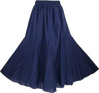 Beautybatik Cotton Boho Gypsy Long Maxi Godet Skirt