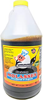 Yummmy Molasses, BLACKSTRAP MOLASSES Yummmy, 5 lbs.,ORGANIC, Unsulfured, Kosher certified, Brix 84%, BPA FREE container, Sold by Weight