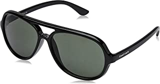 Fastrack UV protected Square Men's Sunglasses (P358BK2|57 millimeters|Black)