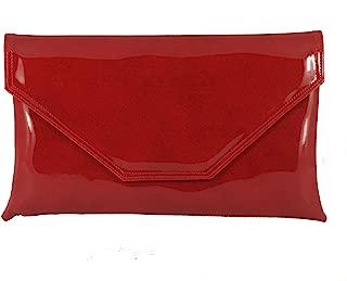 Womens Stylish Large Envelope Patent Clutch Bag/Shoulder Bag Wedding Party Prom Bag