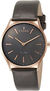 FJORD womens Quartz Watch, analog Display and Leather Strap FJ-6042-03