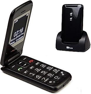 TTfone Nova TT650 Big Button Flip Folding Mobile Phone - Easy and Simple to use (Black)