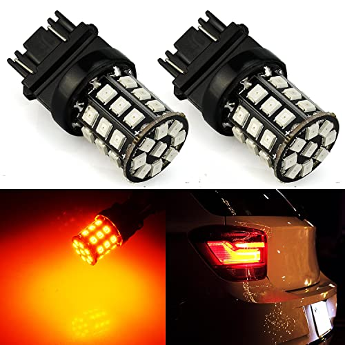 JDM ASTAR 1157 BAY15D Amber 14-SMD Super Bright LED Turn Signal Lights Bulbs