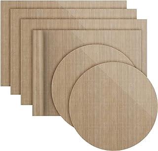 Lot de 6 Papiers de Cuisson Réutilisables Antiadhésifs Durables, Compatibles Lave-Vaisselle, Découpables | Tapis de Cuisso...