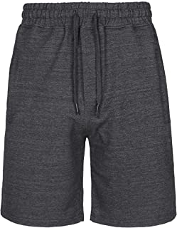 Men's Cotton Drawstring shorts Summer Casual Outdoor Sweatpants with Elastic Waist and Zipper Pocket