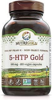 5-htp 100mg, 120 Vegetarian Capsules - The Gold Standard Pure 5-Htp Extract Guaranteed Free of Harmful Peak-x, Gmos, Allergens
