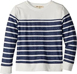 Appaman Kids - Vintage Washed Soft Striped Crew Neck Sweatshirt (Toddler/Little Kids/Big Kids)