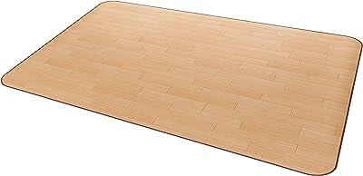 汚れてもサッと拭ける 安心の日本製 大事な床の保護 アキレス 木目調ラグマット ライト 140cm RG-91714