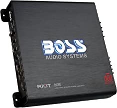 BOSS Audio Systems R4002 - Riot 800 Watt, 2 Channel, 2 4 Ohm Stable Class AB, Full Range, Bridgeable, Mosfet Car Amplifier with Remote Subwoofer Control