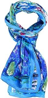 Women 100% Silk Scarves Van Gogh Painted Scarf