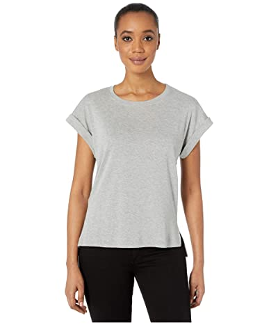 Three Dots Cotton Modal Short Sleeve Top (Heather Grey) Women