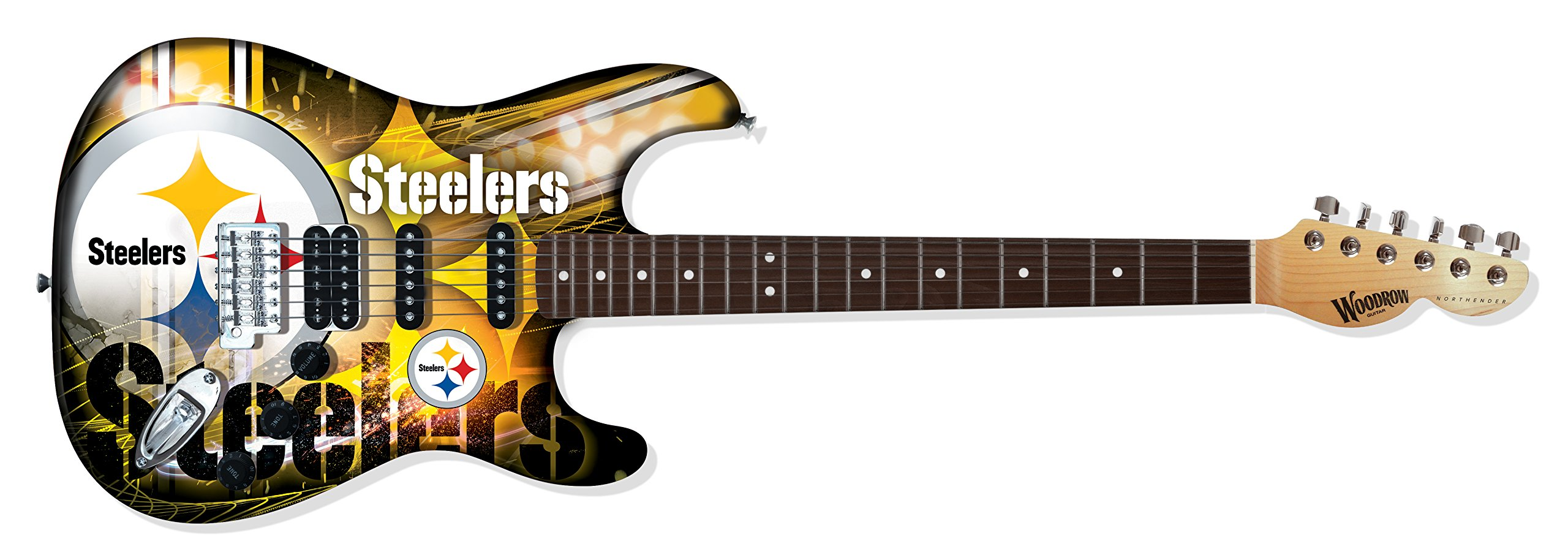 Cheap Woodrow Guitar by The Sports Vault NFL Pittsburgh Steelers Northender Electric Guitar Black Friday & Cyber Monday 2019