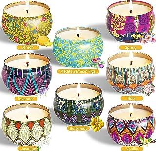 McNory 8 Piezas Regalo de Velas Perfumadas, Velas Aromaticas,Cera de Soja Natural,Aromaterapia Decoración para Relajación ...