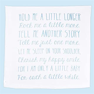 Ocean Drop Designs Muslin Swaddle Blanket with Hold Me A Little Longer Quote. Baptism Gift for Boys and Baby Girls. Christening Gift for Girls and Boys. Goddaughter and Godson Gifts. Newborn Swaddle