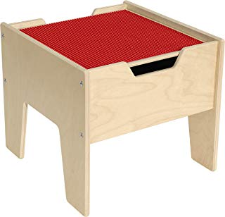 Contender C991300-R 2-N-1 Activity Table with Red Lego Compatible Top - RTA