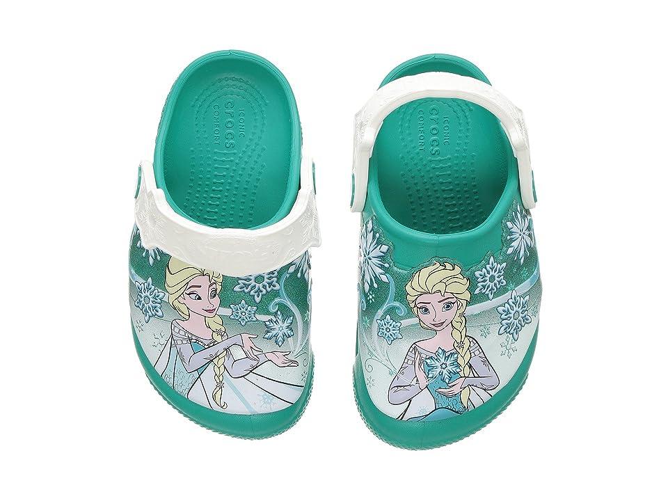 Crocs Kids Frozentm Lights Clog (Toddler/Little Kid) (Tropical Teal) Girls Shoes