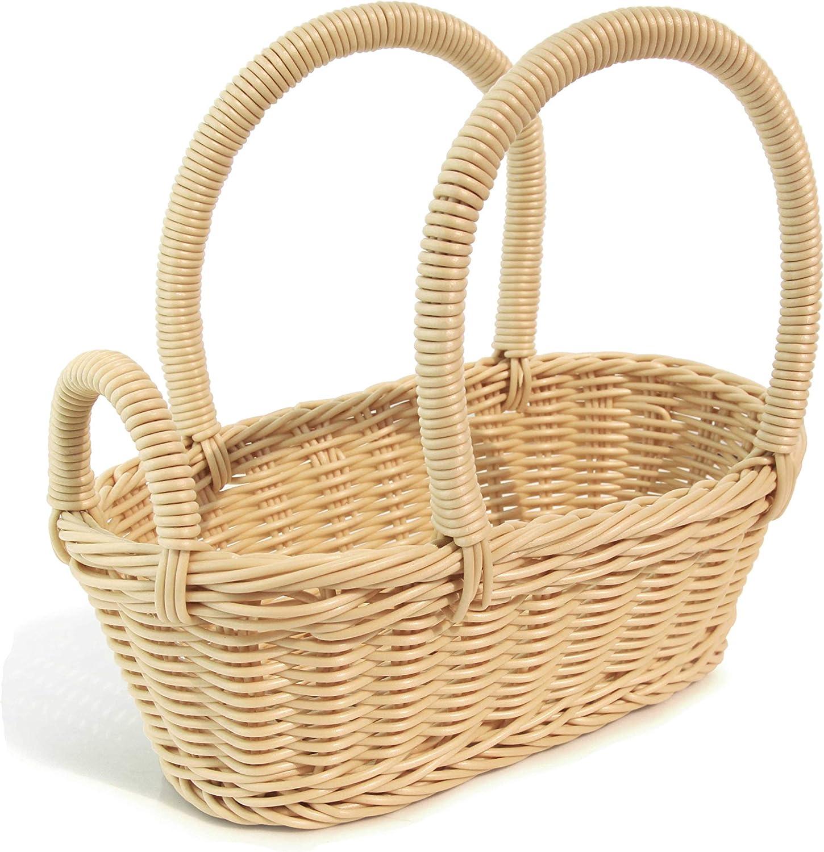 colorbasket 31324-105 Hand Woven Waterproof Wine Bottle Basket, BPA Free, Natural color, Set of 2