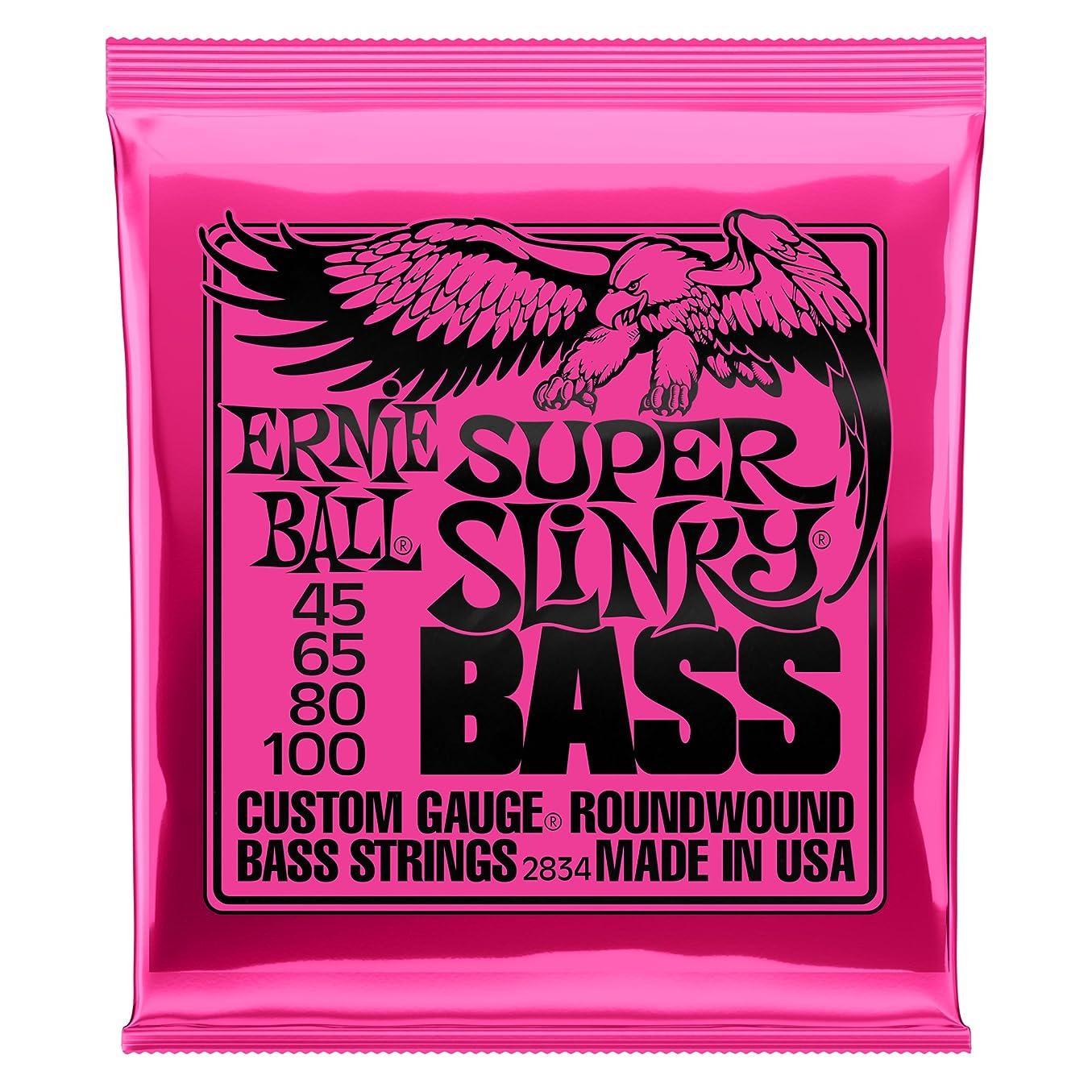 クロールジョージエリオットパートナー【正規品】 ERNIE BALL 2834 ベース弦 (45-100) SUPER SLINKY BASS スーパー?スリンキー?ベース