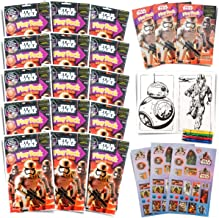 Set of 15 Star Wars Play Packs Fun Party Favors or Classroom Set of Coloring Book Stickers with Star Wars Themed Game Idea Guide and Thank You Notes
