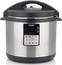 Zavor LUX Edge, 8 Quart Programmable Electric Multi-Cooker: Pressure Cooker, Slow Cooker, Rice Cooker, Yogurt Maker, Steamer and more - Stainless Steel (ZSELE03)