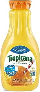 Tropicana Orange Juice, No Pulp, Calcium & Vitamin D, 52 fl oz. bottle