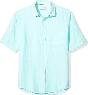 Men's Regular-Fit Short-Sleeve Linen Shirt