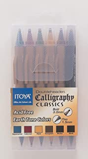 ProFolio by Itoya, Calligraphy Classics Doubleheader Marker, 1.5mm and 3mm Chisel Tips , Set of 6