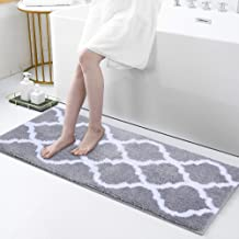 Olanly Luxury Bathroom Rugs Microfiber Bath Shower Mat, Machine Wash and Dry, Non-Slip Absorbent Shaggy Carpet Bath Mat fo...