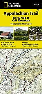Appalachian Trail, Bailey Gap to Calf Mountain [Virginia] (National Geographic Topographic Map Guide)