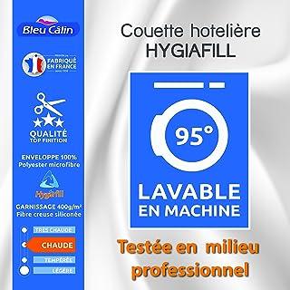 Bleu Calin Couette Hotelière Hygiafill / 400 GR/m² (Couette Hotelière Hygiafill Blanche, 140 x 200 cm pour lit 1 Place 90 ...